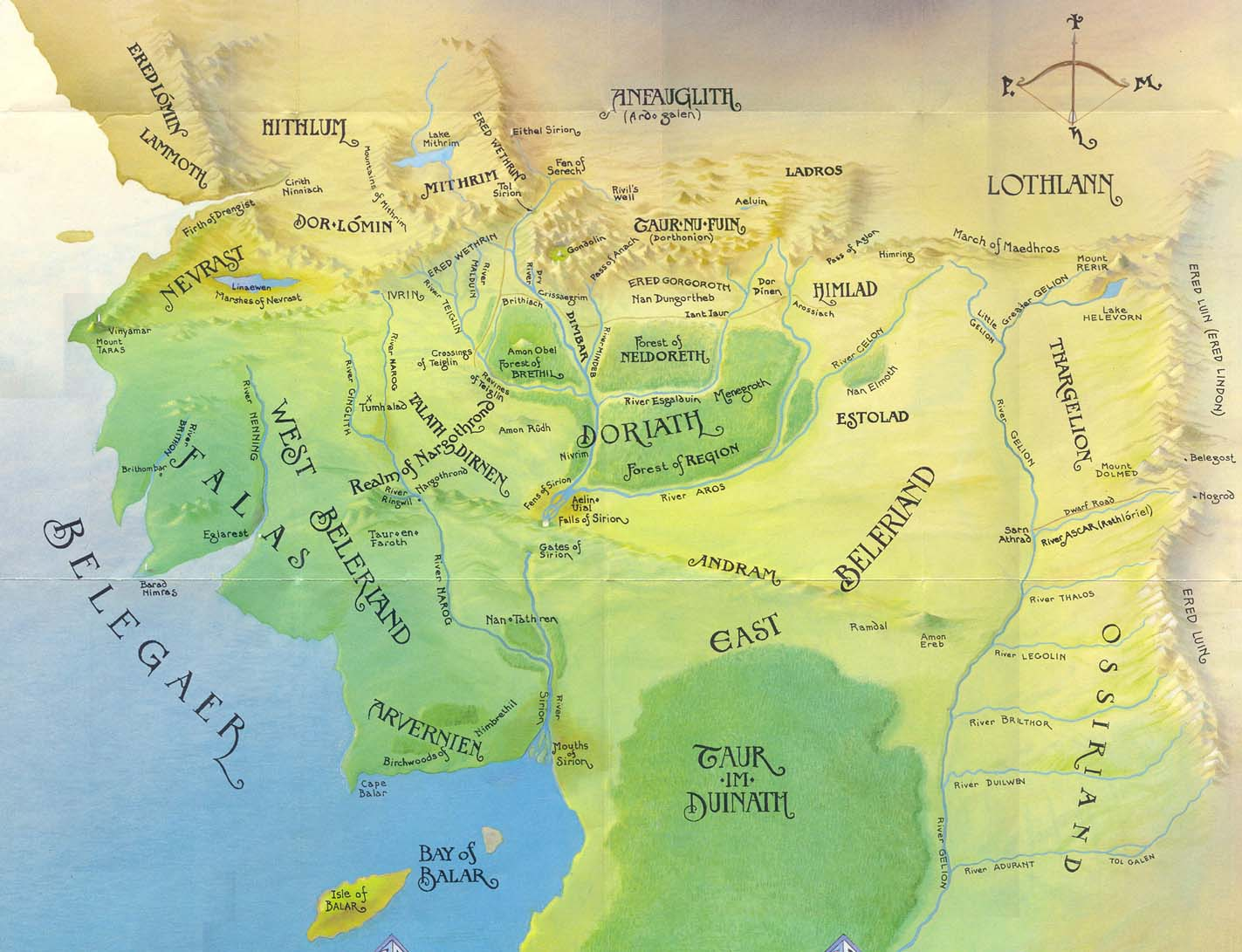 map of m e in the first age from the tolkien encyclopedia the geography of m e pinterest tolkien middle earth and lotr