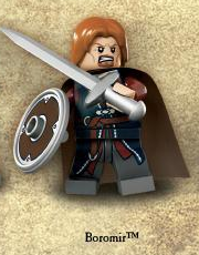 Boromir as a Lego mini figure.