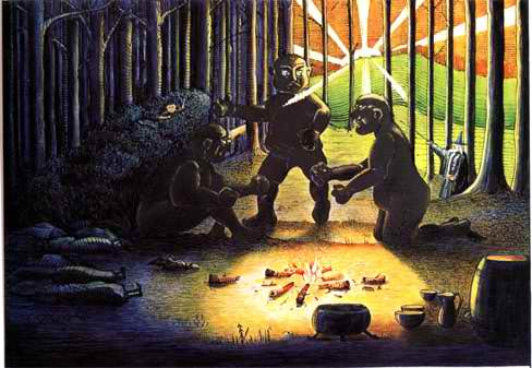 File:J.R.R. Tolkien - The Three Trolls are turned to Stone (Colored by H.E. Riddett).jpg