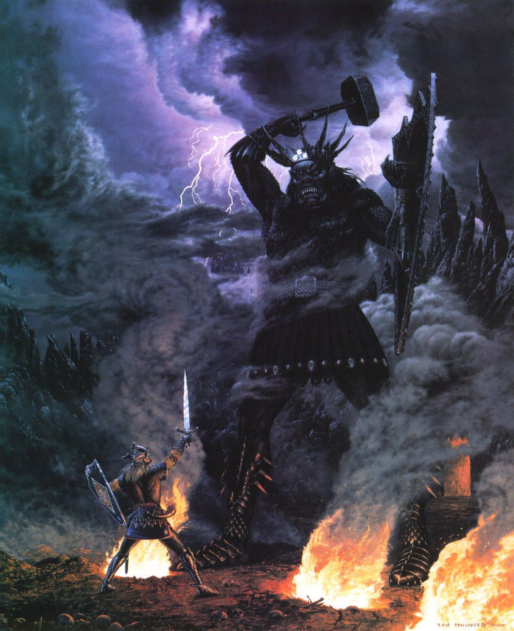 File:Ted Nasmith - Morgoth and the High King of Noldor (1992).jpg