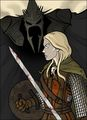 Grant Gould - Eowyn and the Witch-king.jpg