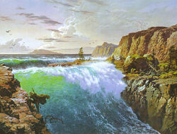 Ted Nasmith - The Incoming Sea at the Rainbow Cleft.jpg