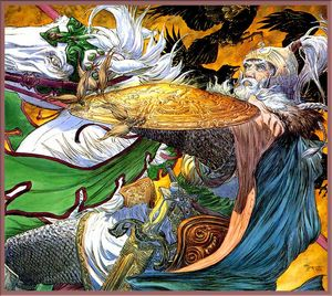 Michael Kaluta - Theoden Espies the Serpent Banner.jpg