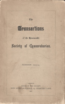 The Transactions of the Honourable Society of Cymmrodorion Session 1923-24.jpg