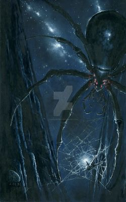 Kip Rasmussen - Morgoth Ensnared by Ungoliant.jpg