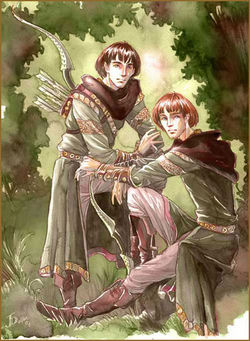 Jenny Dolfen - Amrod and Amras, sons of Feanor.jpg