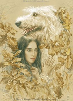 Elena Kukanova - Luthien and Huan.jpeg