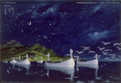 Ted Nasmith - The Ships of the Teleri Drawn by Swans.jpg
