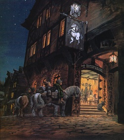 Ted Nasmith - At the Sign of the Prancing Pony.jpg